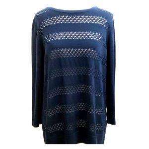 Banana Republic Variegated Knit Stripe Sweater